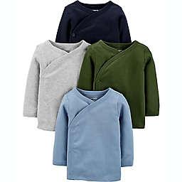 carter's® Preemie 4-Pack Long Sleeve Side-Snap Shirts