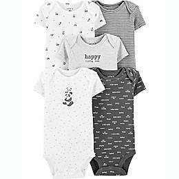 carter's® Preemie 5-Pack Slogan Short Sleeve Bodysuits