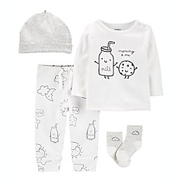 carter's Preemie 4-Piece Cookie Take-Me-Home Set in White