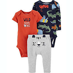carter's® Preemie 3-Piece Tiger Layette Set in Orange