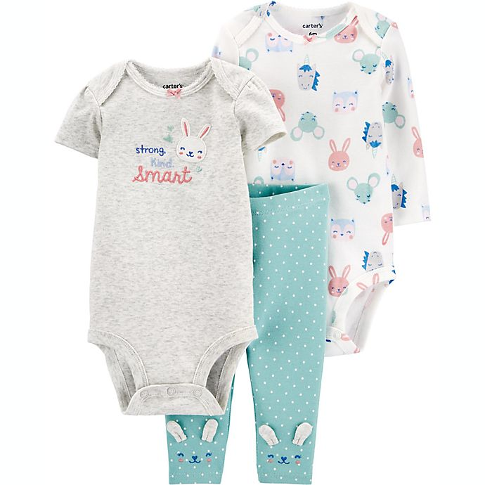 Alternate image 1 for carter's® Preemie 3-Piece Bunny Layette Set