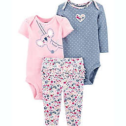carter's® Preemie 3-Piece Koala Little Character Set in Pink/Blue