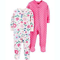carter's® Preemie 2-Pack Floral Sleep N' Plays