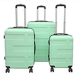Club Rochelier Deco 3-Piece Hardside Spinner Luggage Set in Mint