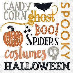 Boston International 20-Count Halloween Words Cocktail Napkins