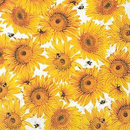 Boston International 20-Count Fall Sunflowers Cocktail Napkins
