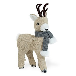 Boston International Dandy Standing Deer Figue with Grey Scarf<br />