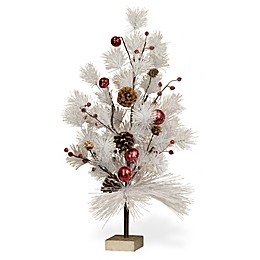 Boston International 23-Inch Winter's Day Artificial Christmas Tree in White