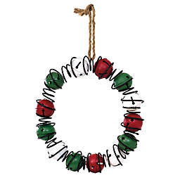 Boston International 14-Inch Red and Green Bell Christmas Wreath