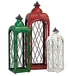Boston International Holiday Rustic Seasonal Lanterns (Set of 3)