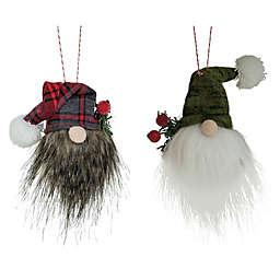 Boston International 6-Piece Santa Gnome Head Ornaments Set