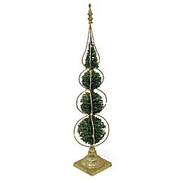 Boston International 31-Inch Topiary LED Tree with Gold Base
