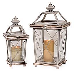 Boston International Griege Street Lamp Lanterns (Set of 2)