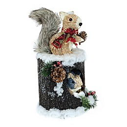 Boston International 12-Inch Squirrel Sisters in Treehouse Decoration