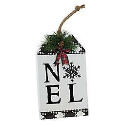 "Boston International ""Noel"" Holiday Tag Sign in Black/White"