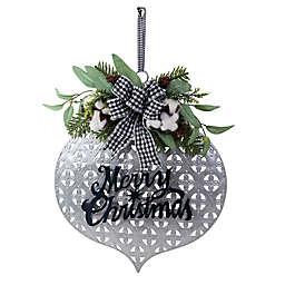 Boston International Holiday Ornament Wall Decoration in Silver