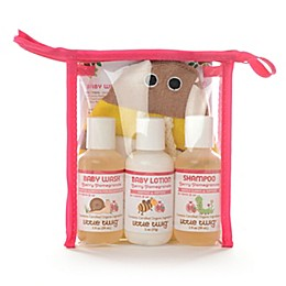 Little Twig Travel Basics & Bee Mit Set in Berry Pomegranate