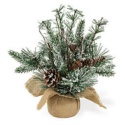 Boston International 14-Inch Artificial Fir Frosted Jingle Christmas Tree