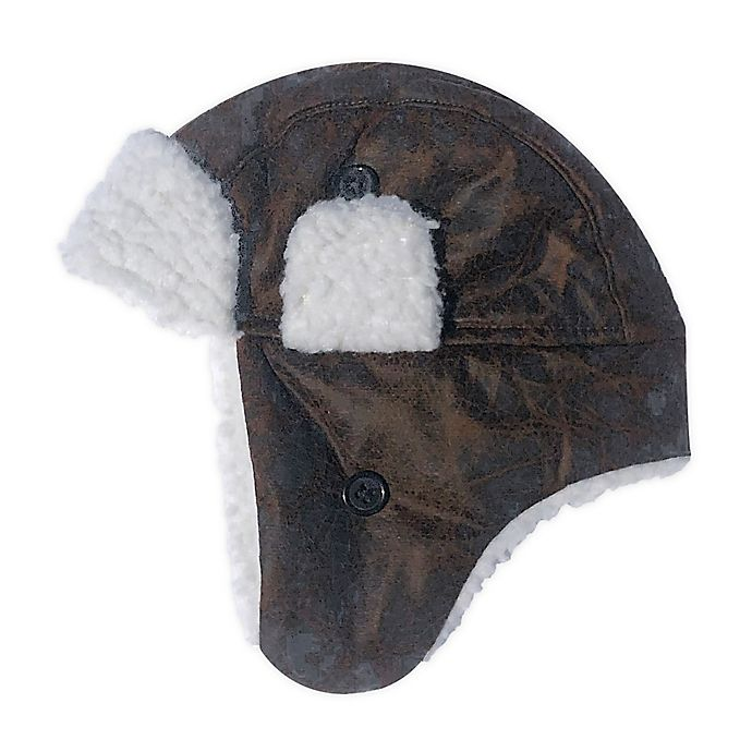 Alternate image 1 for Toby Fairy™ Infant Faux Leather Trapper Hat in Chocolate
