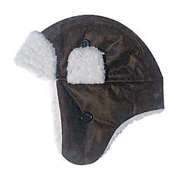 Toby Fairy™ Faux Leather Trapper Hat in Chocolate