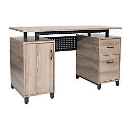 Techni Mobili Computer Desk with Storage in Grey