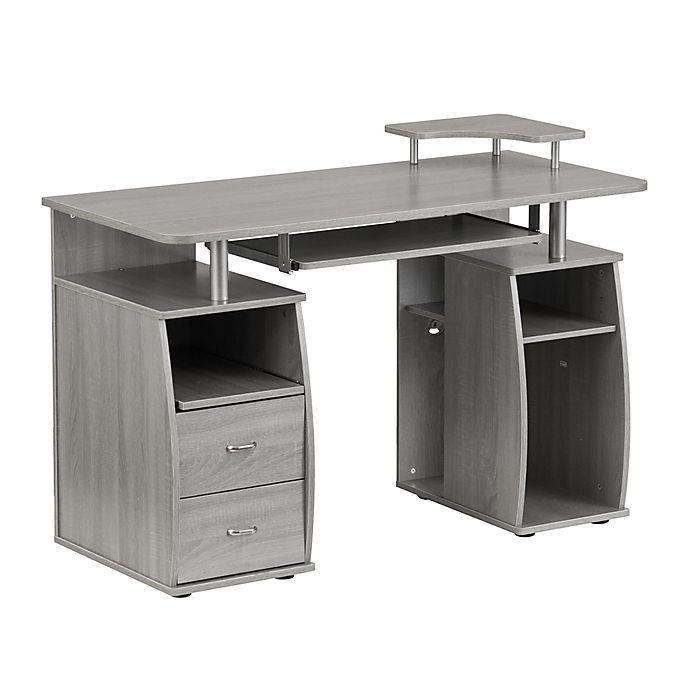 Techni Mobili Dual Complete Computer Workstation Desk With Storage Bed Bath Beyond