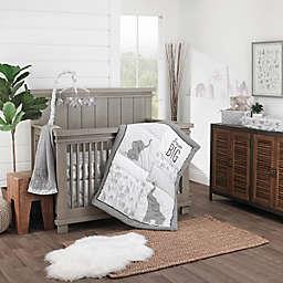 NoJo Elephant Tribe 4-Piece Nursery Crib Bedding Set in Grey
