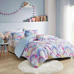 Urban Habitat Kids Emily Printed Rainbow Cotton Reversible Comforter Set