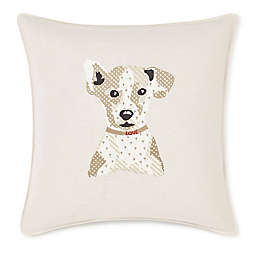 ED Ellen DeGeneres Augie Embroidered Square Throw Pillow in Natural