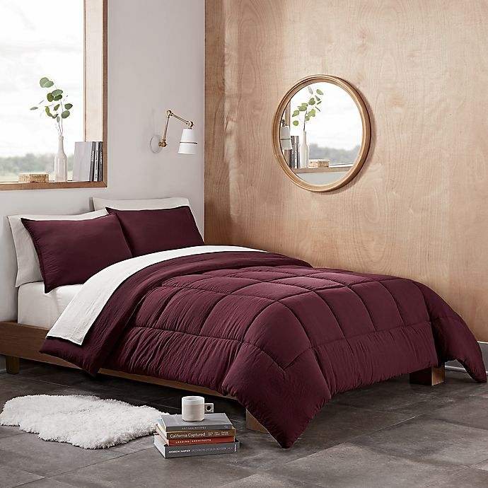Alternate image 1 for UGG® Devon 2-Piece Reversible Twin/Twin XL Comforter Set in Cabernet