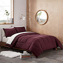 UGG® Devon 2-Piece Reversible Twin/Twin XL Comforter Set in Cabernet