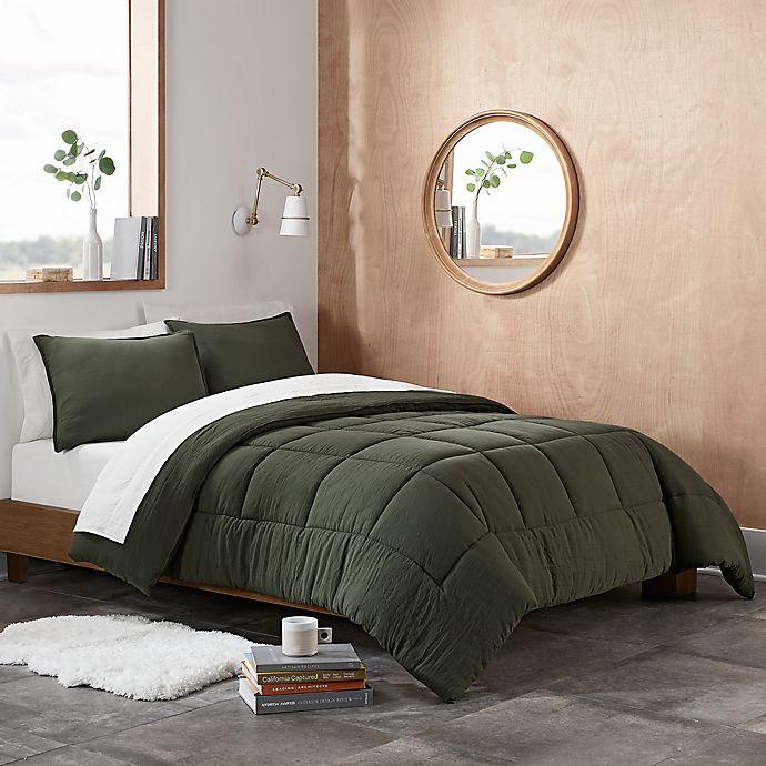 Alternate image 1 for UGG® Devon 2-Piece Reversible Twin/Twin XL Comforter Set in Moss
