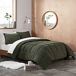 UGG® Devon 2-Piece Reversible Twin/Twin XL Comforter Set in Moss