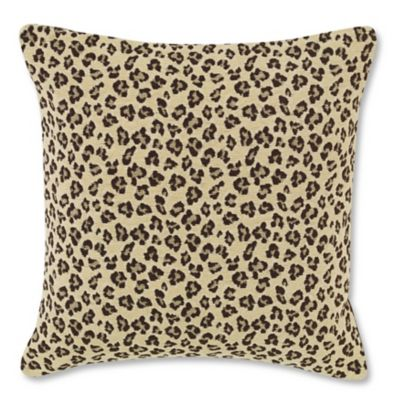 Skyline Cheetah Square Throw Pillow In Earth Bed Bath Beyond