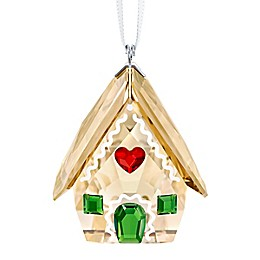 Swarovski® 1.5-Inch Crystal Gingerbread House Christmas Ornament in Brown