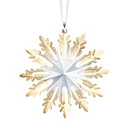 Swarovski® 4.5-Inch Crystal Winter Star Ornament in Gold