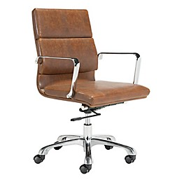 Zuo® Modern Ithaca Vintage Office Chair in Brown