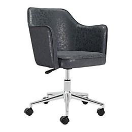 Zuo® Modern Keen Vintage Office Chair in Black