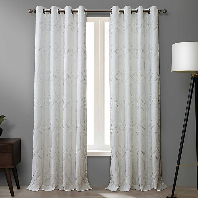 Alternate image 1 for O&O by Olivia & Oliver™ Walker 84-Inch Grommet Curtain Panel in White (Single)