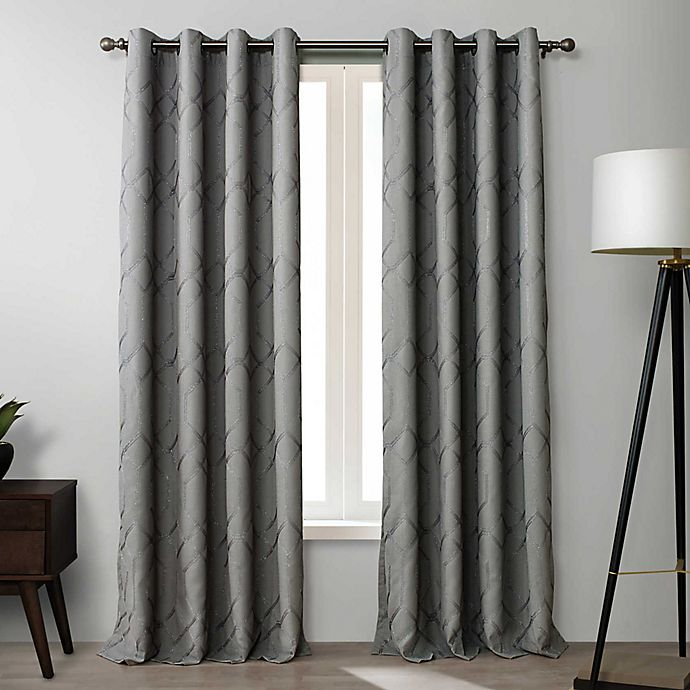 Alternate image 1 for O&O by Olivia & Oliver™ Walker Room Darkening Grommet Window Curtain Panel