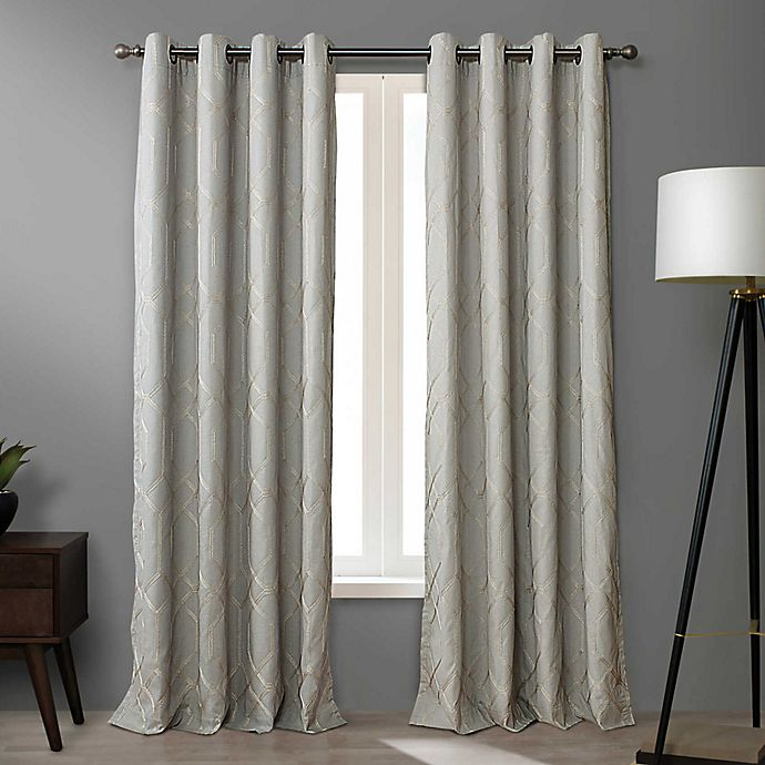 Alternate image 1 for O&O by Olivia & Oliver™ Walker 95-Inch Grommet Curtain Panel in Grey (Single)