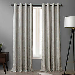 O&O by Olivia & Oliver™ Walker 95-Inch Grommet Curtain Panel in Grey (Single)