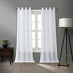 O&O by Olivia & Oliver™ Walker 84-Inch Sheer Curtain Panel in White/Silver (Single)