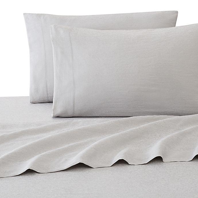 Alternate image 1 for UGG® Devon Garment Washed Standard/Queen Pillowcases in Navy Pinstripe (Set of 2)
