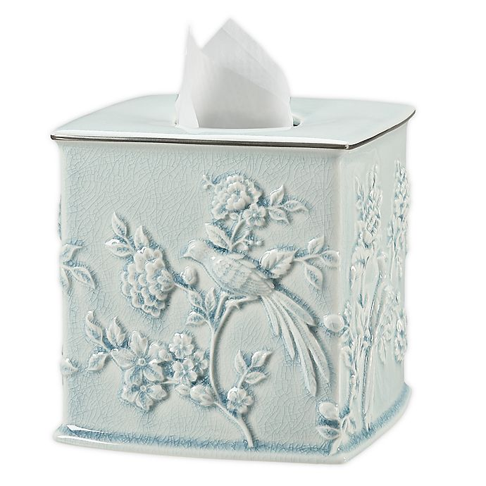 Alternate image 1 for Wamsutta® Margate Tissue Box Cover in Illusion Blue