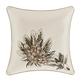 J. Queen New York™ Palm Beach Square Throw Pillow in Ivory