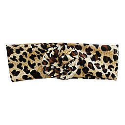 Tiny Treasures Large Bun Knot Headband in Leopard