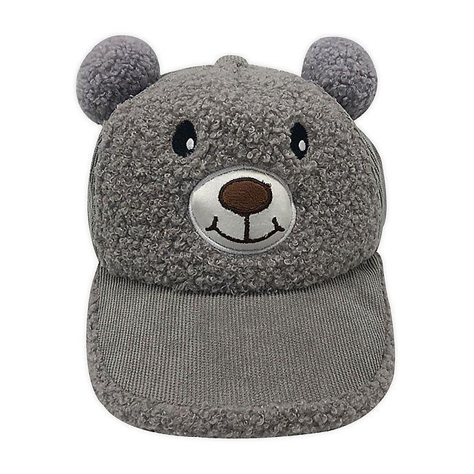 Alternate image 1 for Tiny Treasures™ Newborn Sherpa Bear Cap in Grey