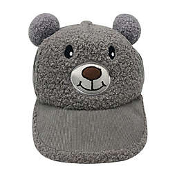 Tiny Treasures™ Newborn Sherpa Bear Cap in Grey