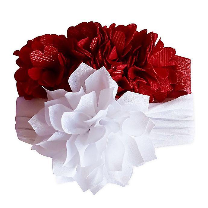 Alternate image 1 for Tiny Treasures™ 2-Pack Novelty Flowers Bow Headbands